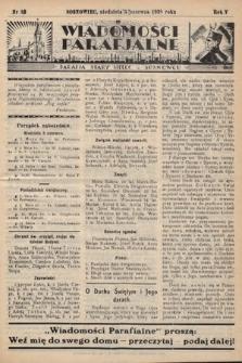 """Wiadomości Parafjalne : dodatek do tygodników """"Niedziela"""" i""""Przewodnika Katolickiego"""". 1938, nr18"""