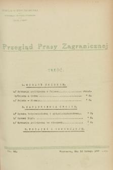 Przegląd Prasy Zagranicznej. 1928, nr 38 (16 lutego)