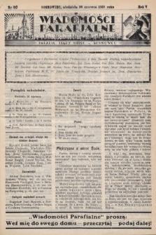 """Wiadomości Parafjalne : dodatek do tygodników """"Niedziela"""" i""""Przewodnika Katolickiego"""". 1938, nr20"""