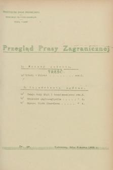 Przegląd Prasy Zagranicznej. 1928, nr 57 (9 marca)