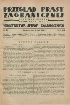 Przegląd Prasy Zagranicznej : codzienny biuletyn Wydziału Prasowego Ministerstwa Spraw Zagranicznych. R.3, nr 2 (2 maja 1928) = nr 101