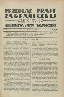 Przegląd Prasy Zagranicznej : codzienny biuletyn Wydziału Prasowego Ministerstwa Spraw Zagranicznych. R.3, nr 7 (9 maja 1928) = nr 106