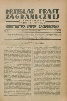 Przegląd Prasy Zagranicznej : codzienny biuletyn Wydziału Prasowego Ministerstwa Spraw Zagranicznych. R.3, nr 13 (16 maja 1928) = nr 112