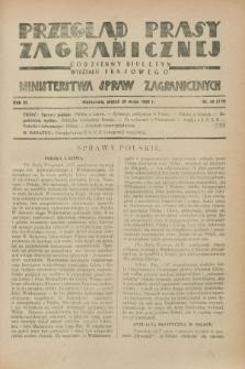 Przegląd Prasy Zagranicznej : codzienny biuletyn Wydziału Prasowego Ministerstwa Spraw Zagranicznych. R.3, nr 20 (25 maja 1928) = nr 119