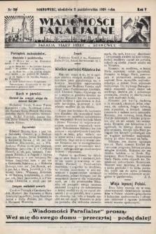 """Wiadomości Parafjalne : dodatek do tygodników """"Niedziela"""" i""""Przewodnika Katolickiego"""". 1938, nr27"""