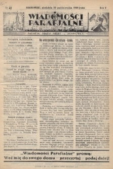"""Wiadomości Parafjalne : dodatek do tygodników """"Niedziela"""" i""""Przewodnika Katolickiego"""". 1938, nr29"""