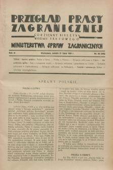 Przegląd Prasy Zagranicznej : codzienny biuletyn Wydziału Prasowego Ministerstwa Spraw Zagranicznych. R.3, nr 66 (21 lipca 1928) = nr 165