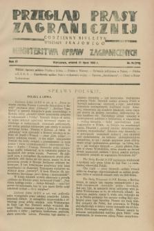 Przegląd Prasy Zagranicznej : codzienny biuletyn Wydziału Prasowego Ministerstwa Spraw Zagranicznych. R.3, nr 74 (31 lipca 1928) = nr 173