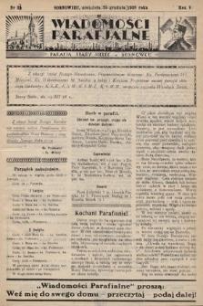 """Wiadomości Parafjalne : dodatek do tygodników """"Niedziela"""" i""""Przewodnika Katolickiego"""". 1938, nr33"""