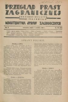Przegląd Prasy Zagranicznej : codzienny biuletyn Wydziału Prasowego Ministerstwa Spraw Zagranicznych. R.3, nr 106 (7 września 1928) = nr 205