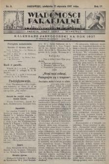 """Wiadomości Parafjalne : dodatek do tygodników """"Niedziela"""" i""""Przewodnika Katolickiego"""". 1937, nr3"""