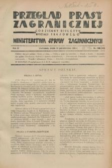 Przegląd Prasy Zagranicznej : codzienny biuletyn Wydziału Prasowego Ministerstwa Spraw Zagranicznych. R.3, nr 134 (10 października 1928) = nr 233