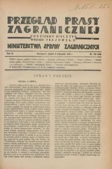 Przegląd Prasy Zagranicznej : codzienny biuletyn Wydziału Prasowego Ministerstwa Spraw Zagranicznych. R.3, nr 159 (9 listopada 1928) = nr 258