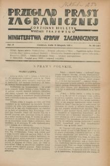 Przegląd Prasy Zagranicznej : codzienny biuletyn Wydziału Prasowego Ministerstwa Spraw Zagranicznych. R.3, nr 163 (14 listopada 1928) = nr 262