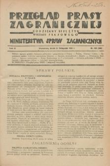 Przegląd Prasy Zagranicznej : codzienny biuletyn Wydziału Prasowego Ministerstwa Spraw Zagranicznych. R.3, nr 169 (21 listopada 1928) = nr 268