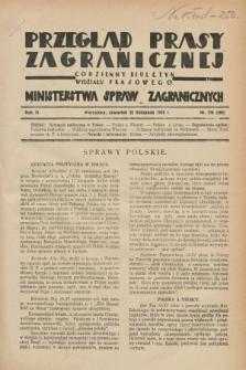Przegląd Prasy Zagranicznej : codzienny biuletyn Wydziału Prasowego Ministerstwa Spraw Zagranicznych. R.3, nr 170 (22 listopada 1928) = nr 269