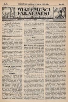 """Wiadomości Parafjalne : dodatek do tygodników """"Niedziela"""" i""""Przewodnika Katolickiego"""". 1937, nr9"""