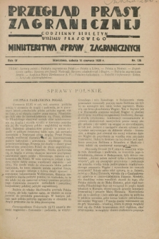 Przegląd Prasy Zagranicznej : codzienny biuletyn Wydziału Prasowego Ministerstwa Spraw Zagranicznych. R.4, nr 135 (15 czerwca 1929)