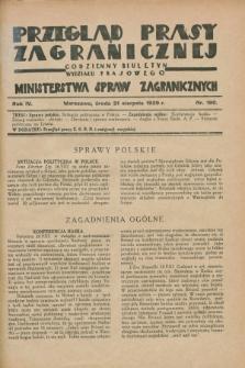 Przegląd Prasy Zagranicznej : codzienny biuletyn Wydziału Prasowego Ministerstwa Spraw Zagranicznych. R.4, nr 190 (21 sierpnia 1929)