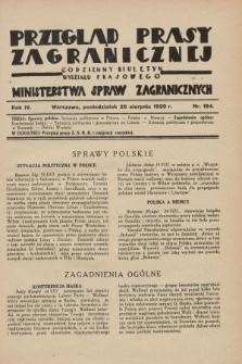 Przegląd Prasy Zagranicznej : codzienny biuletyn Wydziału Prasowego Ministerstwa Spraw Zagranicznych. R.4, nr 194 (26 sierpnia 1929)