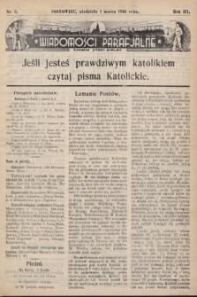 """Wiadomości Parafjalne : dodatek do tygodników """"Niedziela"""" i""""Przewodnika Katolickiego"""". 1936, nr9"""