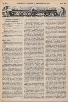 """Wiadomości Parafjalne : dodatek do tygodników """"Niedziela"""" i""""Przewodnika Katolickiego"""". 1936, nr16"""