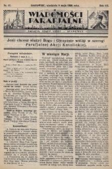"""Wiadomości Parafjalne : dodatek do tygodników """"Niedziela"""" i""""Przewodnika Katolickiego"""". 1936, nr17"""