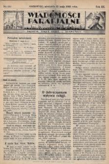 """Wiadomości Parafjalne : dodatek do tygodników """"Niedziela"""" i""""Przewodnika Katolickiego"""". 1936, nr19"""