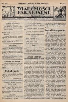 """Wiadomości Parafjalne : dodatek do tygodników """"Niedziela"""" i""""Przewodnika Katolickiego"""". 1936, nr25"""