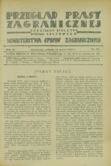 Przegląd Prasy Zagranicznej : codzienny biuletyn Wydziału Prasowego Ministerstwa Spraw Zagranicznych. R.6, nr 60 (14 marca 1931)