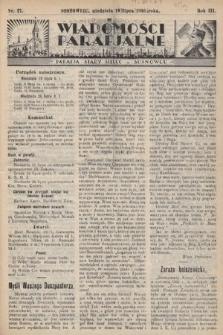 """Wiadomości Parafjalne : dodatek do tygodników """"Niedziela"""" i""""Przewodnika Katolickiego"""". 1936, nr27"""