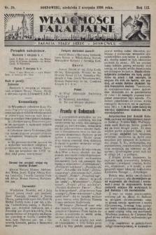 """Wiadomości Parafjalne : dodatek do tygodników """"Niedziela"""" i""""Przewodnika Katolickiego"""". 1936, nr28"""