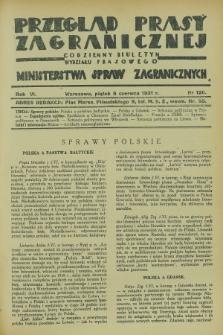 Przegląd Prasy Zagranicznej : codzienny biuletyn Wydziału Prasowego Ministerstwa Spraw Zagranicznych. R.6, nr 126 (5 czerwca 1931)
