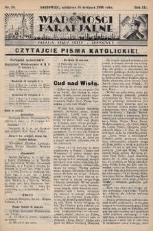 """Wiadomości Parafjalne : dodatek do tygodników """"Niedziela"""" i""""Przewodnika Katolickiego"""". 1936, nr30"""
