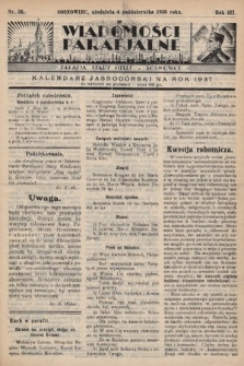 """Wiadomości Parafjalne : dodatek do tygodników """"Niedziela"""" i""""Przewodnika Katolickiego"""". 1936, nr36"""