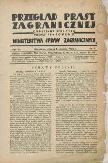 Przegląd Prasy Zagranicznej : codzienny biuletyn Wydziału Prasowego Ministerstwa Spraw Zagranicznych. R.7, nr 3 (5 stycznia 1932)
