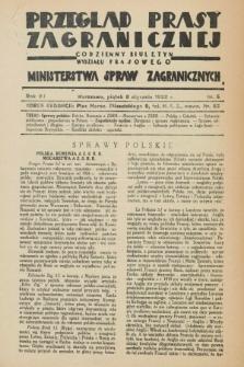 Przegląd Prasy Zagranicznej : codzienny biuletyn Wydziału Prasowego Ministerstwa Spraw Zagranicznych. R.7, nr 5 (8 stycznia 1932)