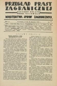 Przegląd Prasy Zagranicznej : codzienny biuletyn Wydziału Prasowego Ministerstwa Spraw Zagranicznych. R.7, nr 11 (15 stycznia 1932)