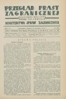 Przegląd Prasy Zagranicznej : codzienny biuletyn Wydziału Prasowego Ministerstwa Spraw Zagranicznych. R.7, nr 20 (26 stycznia 1932)