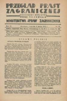 Przegląd Prasy Zagranicznej : codzienny biuletyn Wydziału Prasowego Ministerstwa Spraw Zagranicznych. R.7, nr 51 (3 marca 1932)