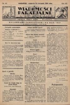 """Wiadomości Parafjalne : dodatek do tygodników """"Niedziela"""" i""""Przewodnika Katolickiego"""". 1936, nr42"""