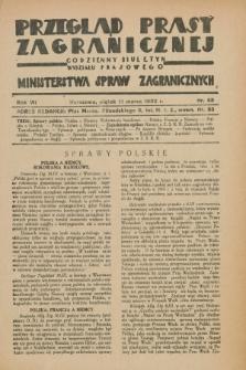Przegląd Prasy Zagranicznej : codzienny biuletyn Wydziału Prasowego Ministerstwa Spraw Zagranicznych. R.7, nr 58 (11 marca 1932)