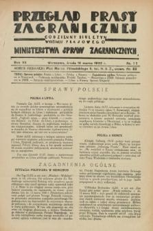 Przegląd Prasy Zagranicznej : codzienny biuletyn Wydziału Prasowego Ministerstwa Spraw Zagranicznych. R.7, nr 62 (16 marca 1932)