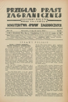 Przegląd Prasy Zagranicznej : codzienny biuletyn Wydziału Prasowego Ministerstwa Spraw Zagranicznych. R.7, nr 68 (23 marca 1932)
