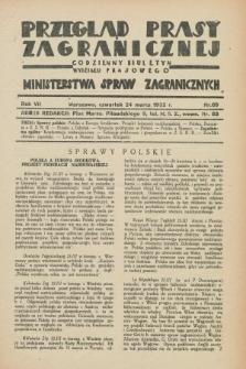 Przegląd Prasy Zagranicznej : codzienny biuletyn Wydziału Prasowego Ministerstwa Spraw Zagranicznych. R.7, nr 69 (24 marca 1932)