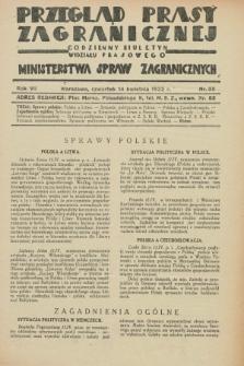 Przegląd Prasy Zagranicznej : codzienny biuletyn Wydziału Prasowego Ministerstwa Spraw Zagranicznych. R.7, nr 85 (14 kwietnia 1932)