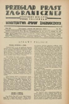 Przegląd Prasy Zagranicznej : codzienny biuletyn Wydziału Prasowego Ministerstwa Spraw Zagranicznych. R.7, nr 95 (26 kwietnia 1932)