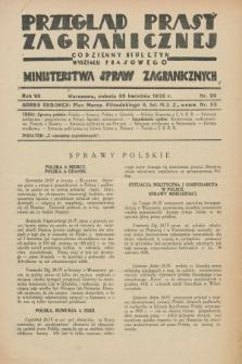 Przegląd Prasy Zagranicznej : codzienny biuletyn Wydziału Prasowego Ministerstwa Spraw Zagranicznych. R.7, nr 99 (30 kwietnia 1932) + dod.