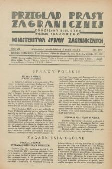 Przegląd Prasy Zagranicznej : codzienny biuletyn Wydziału Prasowego Ministerstwa Spraw Zagranicznych. R.7, nr 100 (2 maja 1932)