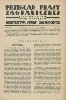 Przegląd Prasy Zagranicznej : codzienny biuletyn Wydziału Prasowego Ministerstwa Spraw Zagranicznych. R.7, nr 109 (14 maja 1932)